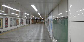 1号線なんば駅壁仕上げ改造工事