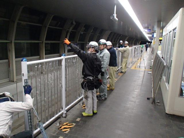 大阪モノレール千里中央駅可動式ホーム柵整備等設置工事